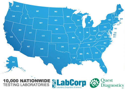 Lab testing Sites Map